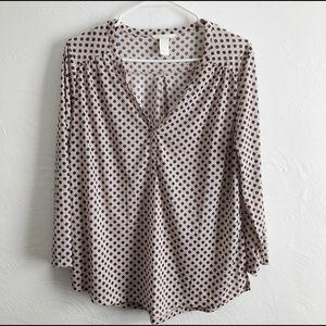 H&M Oversized Polyester Blush Henley